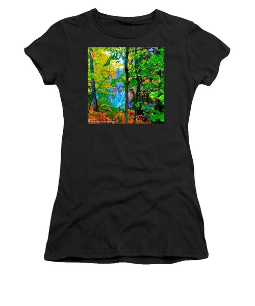 Reed College Canyon Reflections Of Autumn Women's T-Shirt (Athletic Fit)