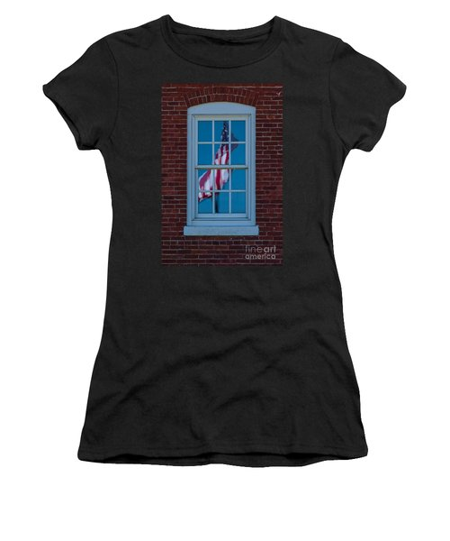 Women's T-Shirt (Junior Cut) featuring the photograph Reflection Of Freedom by Patrick Shupert