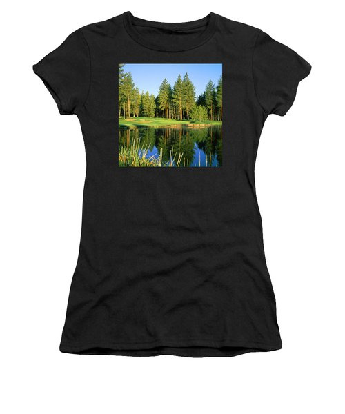 Reflection Of Trees On Water, Edgewood Women's T-Shirt