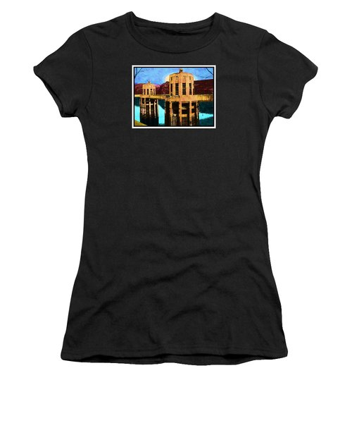 Women's T-Shirt (Junior Cut) featuring the photograph Reflections At Hoover Dam by Glenn McCarthy Art and Photography
