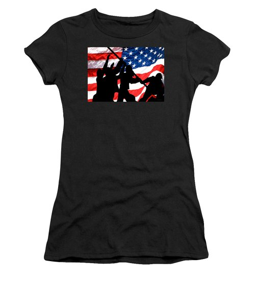 Remembering World War II Women's T-Shirt (Athletic Fit)