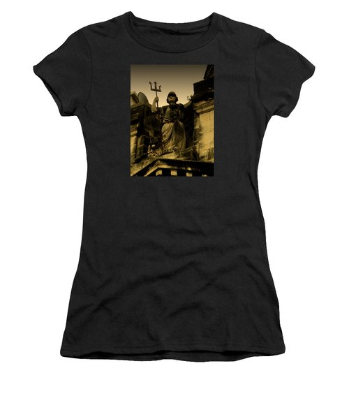 Women's T-Shirt (Junior Cut) featuring the photograph Trident To The Sky by Salman Ravish
