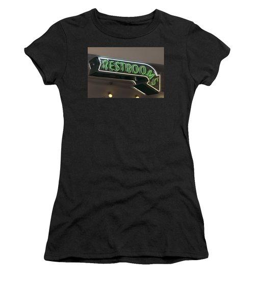 Restrooms In Neon Women's T-Shirt