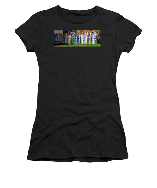 Women's T-Shirt (Junior Cut) featuring the photograph Retired Skis  by Jackie Carpenter
