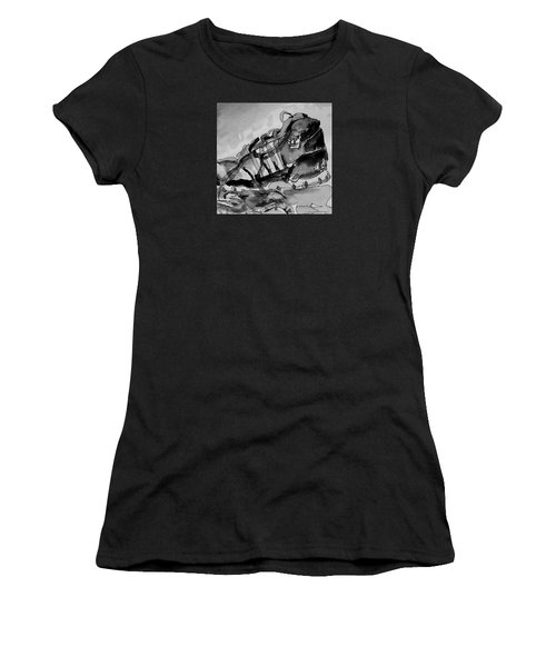Women's T-Shirt (Junior Cut) featuring the painting Retro Adidas by Jeffrey S Perrine