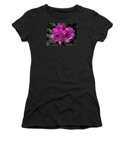 Women's T-Shirt (Junior Cut) featuring the photograph Rhododendron ' Anah Kruschke ' by William Tanneberger