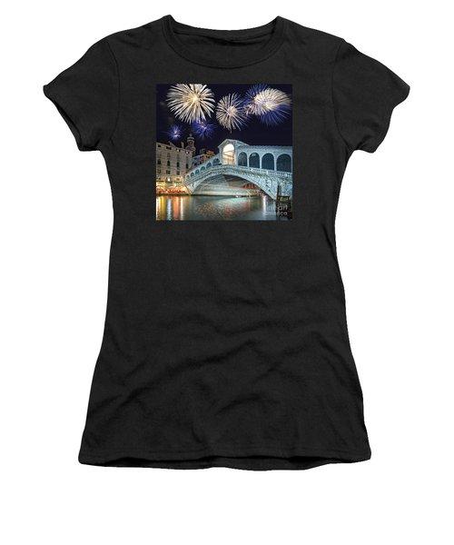 Rialto Bridge Fireworks Women's T-Shirt