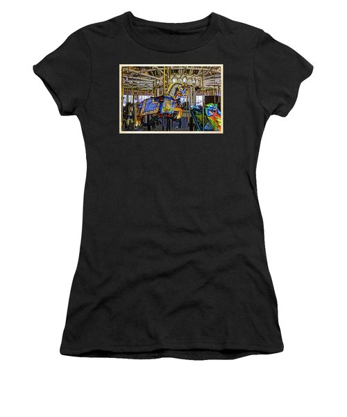 Ride A Painted Pony - Coney Island 2013 - Brooklyn - New York Women's T-Shirt (Junior Cut) by Madeline Ellis