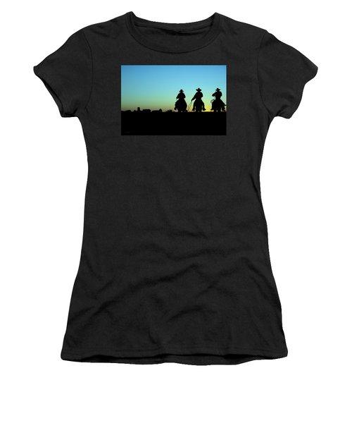 Ride 'em Cowboy Women's T-Shirt (Junior Cut) by Andrea Kollo