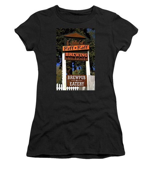Riff Raff Brewing Women's T-Shirt (Junior Cut) by Jeff Gater