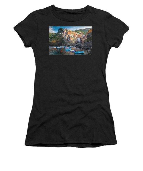 Riomaggiore Boats Women's T-Shirt