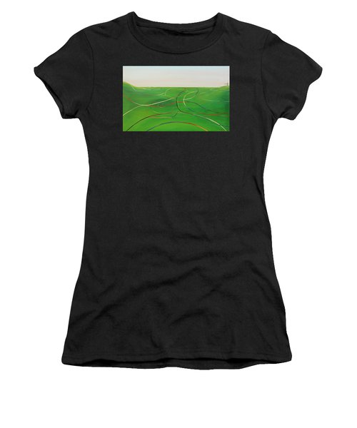 Ripples Of Life 1 Women's T-Shirt (Athletic Fit)