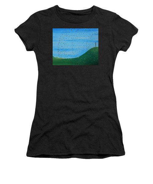 Ripples Of Life 2 Women's T-Shirt (Athletic Fit)
