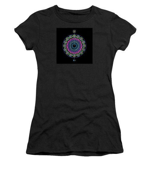 Women's T-Shirt (Junior Cut) featuring the painting Rising Above Challenges by Keiko Katsuta