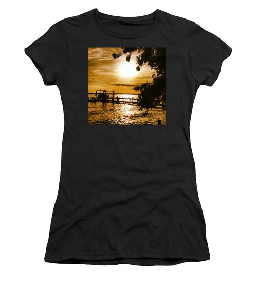 River Acres Jaynes Sunset Women's T-Shirt (Athletic Fit)