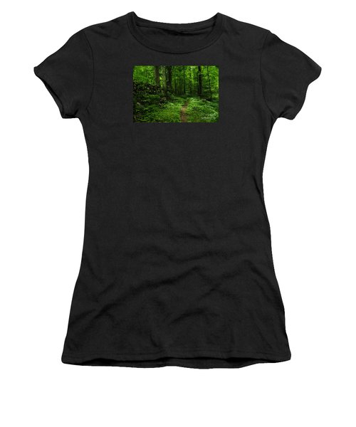 Women's T-Shirt (Junior Cut) featuring the photograph Roaring Fork Trail by Debbie Green
