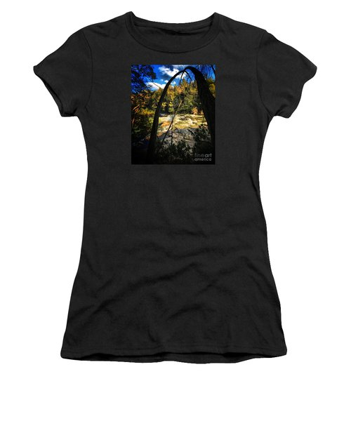 Rock Slide Women's T-Shirt (Junior Cut) by Robert McCubbin