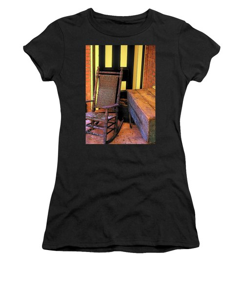 Rocking Chair And Woodbox Women's T-Shirt (Athletic Fit)