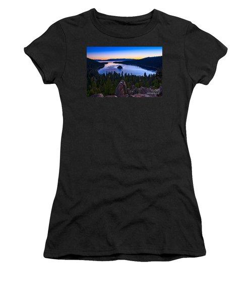 Rocks Over Emerald Bay Women's T-Shirt