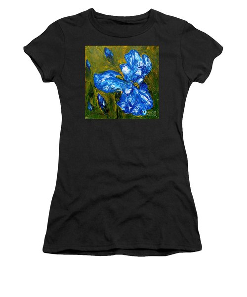 Romantic Iris Women's T-Shirt (Athletic Fit)