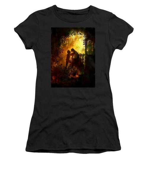 Romeo And Juliet - The Love Story Women's T-Shirt (Junior Cut) by Lilia D