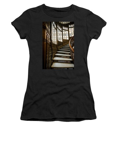Rookery Building Up The Oriel Staircase Women's T-Shirt (Athletic Fit)