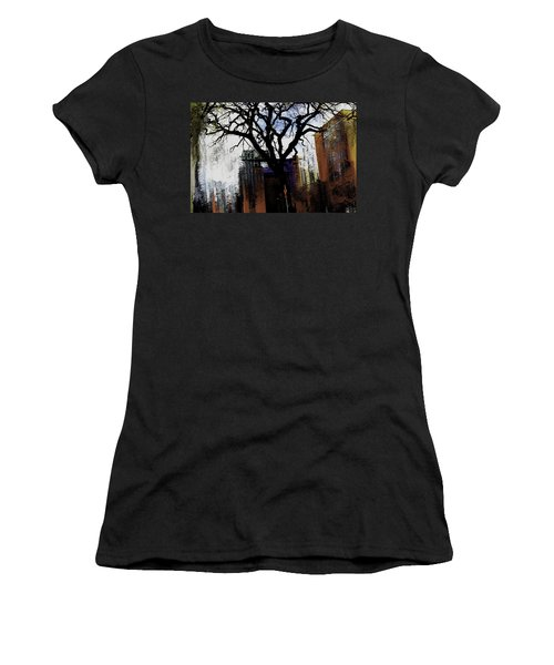 Women's T-Shirt (Junior Cut) featuring the mixed media Rooted In The Unstable by Terence Morrissey