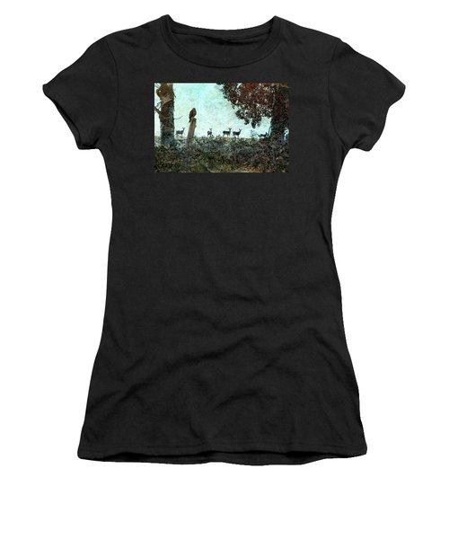 Rose Hill - Autumn Women's T-Shirt (Junior Cut) by Ed Hall