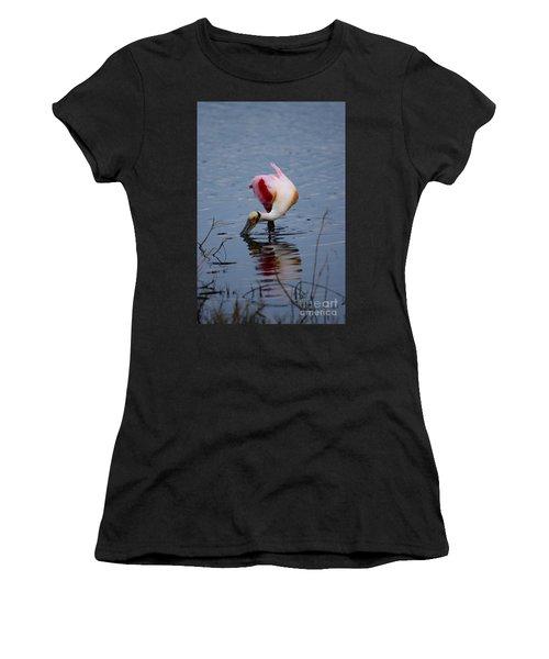 Roseate Spoonbill Twist Women's T-Shirt