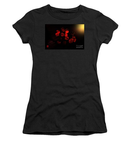 Roses And Black Women's T-Shirt (Athletic Fit)