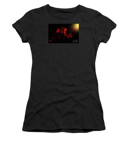 Roses And Black Women's T-Shirt (Junior Cut) by Oksana Semenchenko