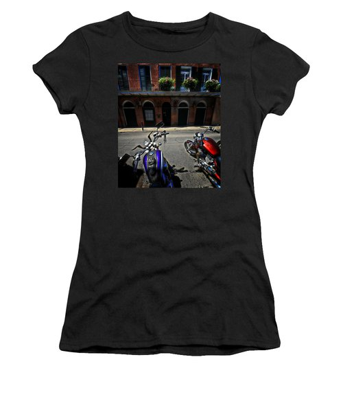 Round N Rounds Women's T-Shirt (Junior Cut) by Robert McCubbin