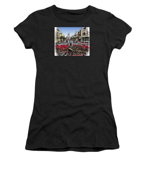 Roy And Minnie Mouse Walt Disney World Women's T-Shirt (Junior Cut) by Thomas Woolworth
