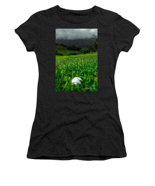 Women's T-Shirt (Junior Cut) featuring the photograph Royal Hawaiian Golf by Angela DeFrias