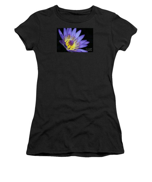Royal Purple Water Lily #14 Women's T-Shirt (Athletic Fit)
