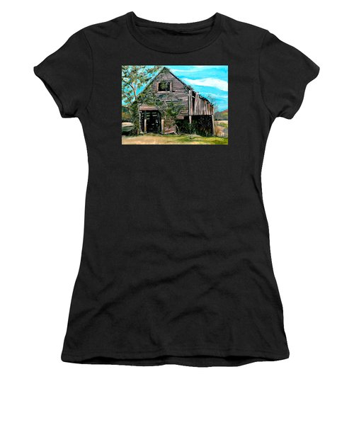 Rustic Barn - Mooresburg - Tennessee Women's T-Shirt (Athletic Fit)