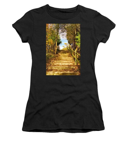 Rustic Stairway Women's T-Shirt (Athletic Fit)