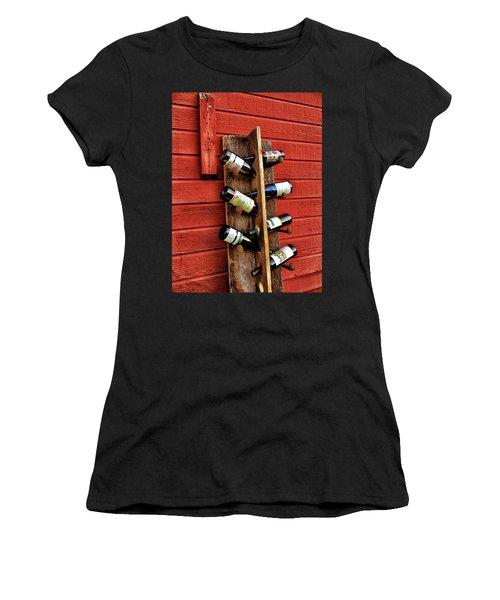 Rustic Wine Rack Women's T-Shirt (Athletic Fit)