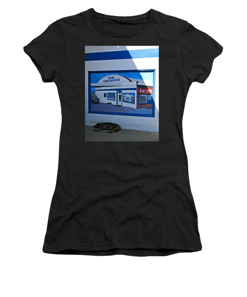 S And W Tire Service Mural Women's T-Shirt