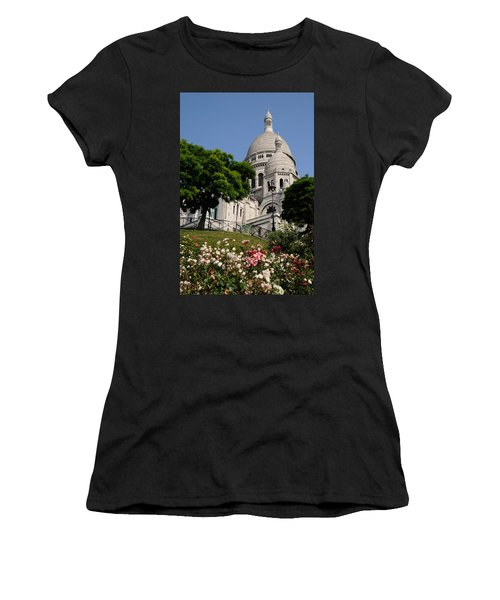 Sacre Coeur Flowers Women's T-Shirt (Junior Cut) by Jeremy Voisey