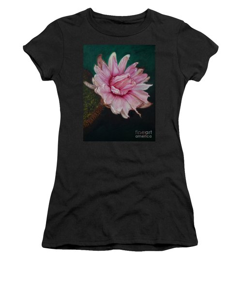 Sacred Red Lotus Women's T-Shirt (Junior Cut) by Mukta Gupta