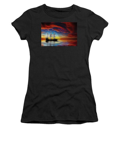 Sailboat Fractal Women's T-Shirt