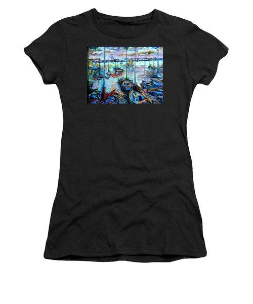 Sailboat Harbor Women's T-Shirt (Athletic Fit)