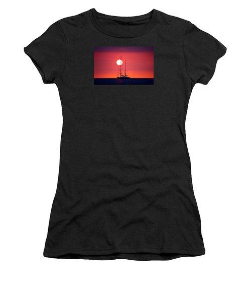 Sailboat Sunset Women's T-Shirt