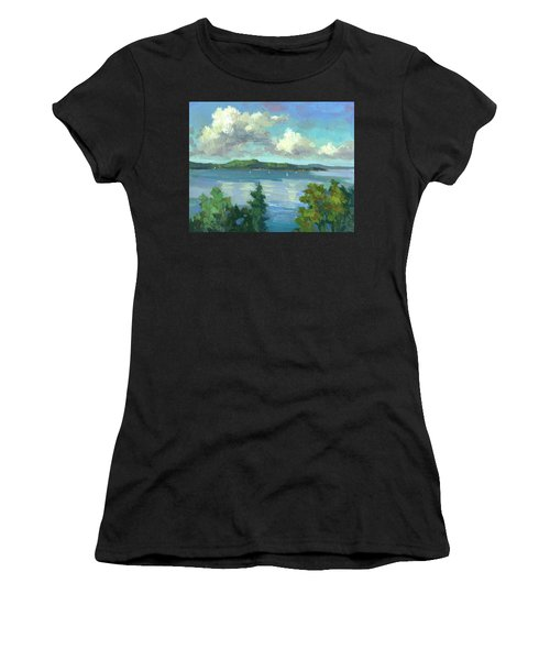 Sailing On Puget Sound Women's T-Shirt (Athletic Fit)