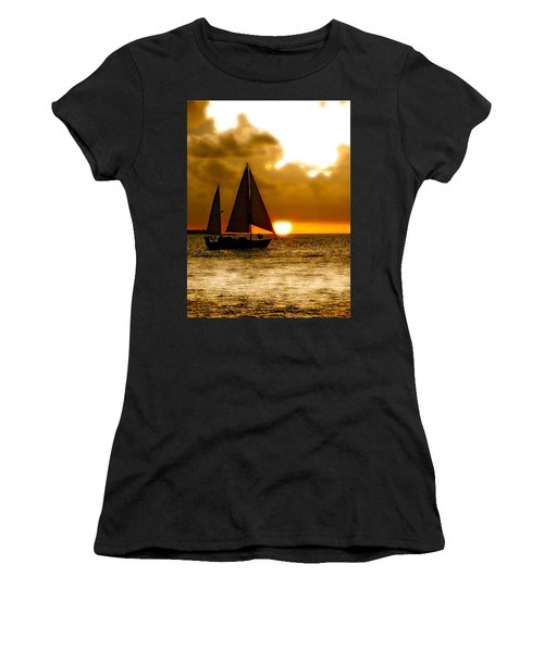 Sailing The Keys Women's T-Shirt (Athletic Fit)