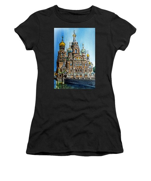 Saint Petersburg Russia The Church Of Our Savior On The Spilled Blood Women's T-Shirt