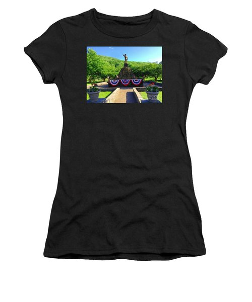 Women's T-Shirt (Junior Cut) featuring the photograph Salute To Our Hero's  by Becky Lupe