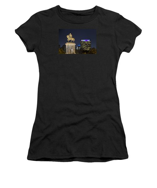 Sam Houston At Night Women's T-Shirt (Athletic Fit)