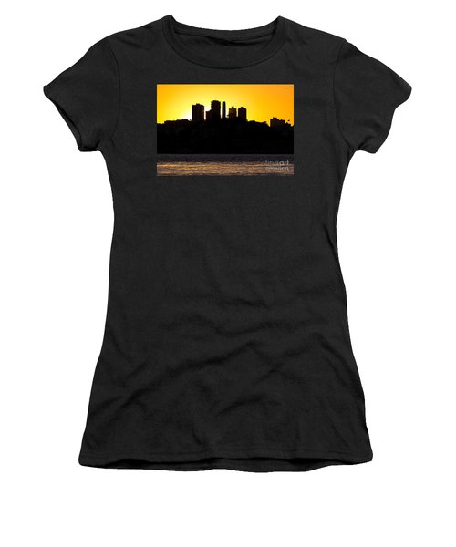 San Francisco Silhouette Women's T-Shirt (Junior Cut) by Kate Brown